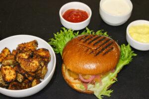 BARE Vegetar cheeceburger med taco